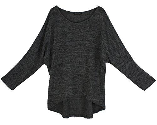 Emma & Giovanni Pullover/T-Shirt Oversize - Damen Schwarz