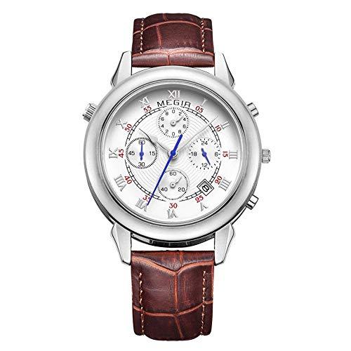 North King Quarz Uhren Datum Anzeige Leuchtende Wasser Sport-Chronograph schöne Uhren für Erwachsene Geburtstagsgeschenk