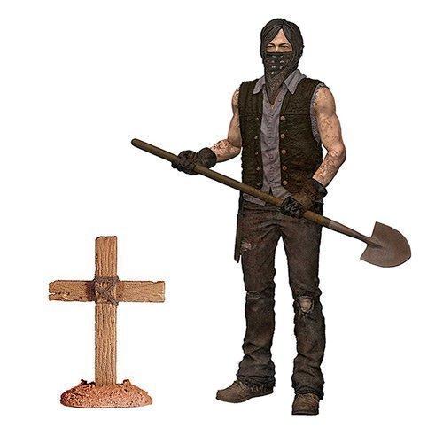 The Walking Dead TV Series 9 Grave Digger Daryl Dixon Dirt Version Action Figure by Walking Dead - Dixon Figure Action