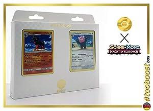 Pampross (Mudsdale) 78/147 Y Kosturso (Bewear) 111/147 - #tooboost X Sonne & Mond 3 Nacht in Flammen - Box de 10 Cartas Pokémon Aleman + 1 Goodie Pokémon