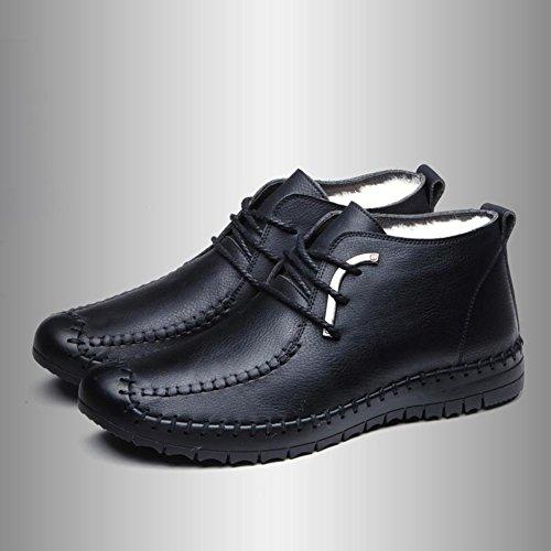 QIANGDA Inverno Scarpe Da Uomo Scarpe Di Cotone Maschio Giovanile Ispessire Il Rivestimento, 4 Stili Opzionale ( Colore : Black2 , dimensioni : EU41 = UK7.5 ) Black1