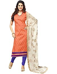 Viha Women's Chanderi Unstitched Dress Material