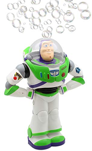 uzz Lightyear-Blase Gebläse Mit Led-blinklichtern, Seifenlösung Enthalten | Geschenkidee Für Kinder Ab 3 Jahren | Draußen- Oder Innen-Bubble-Making-Spielzeug Für Kinder ()