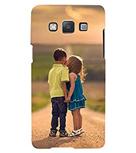 Printvisa Premium Back Cover Girl And A Boy Childhood Affection Design For Samsung Galaxy A7::Samsung Galaxy A7 A700F