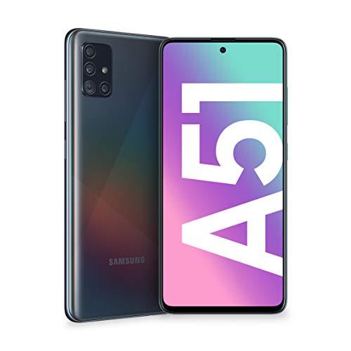 samsung galaxy a51 smartphone, display 6.5 super amoled, 4 fotocamere posteriori, 128 gb espandibili, ram 4 gb, batteria 4000 mah, 4g, dual sim, android 10, 172 g, (2020) [versione italiana], black