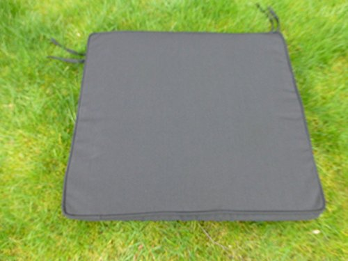 UK-Gardens Black Deep Large Square Garden Furniture Chair Cushion Seat Pad For Garden Armchair
