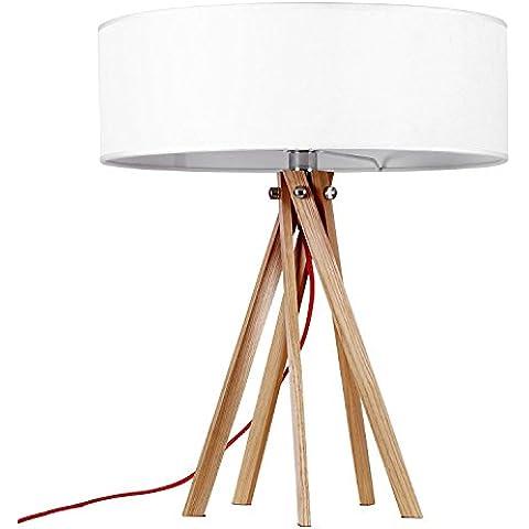 SuperStudio Ringo - Lámpara de sobremesa, madera de haya