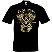 Biker T-Shirt EVOLUTION Motorrad Chopper Bobber EVO Bikershirt, S bis 5XL