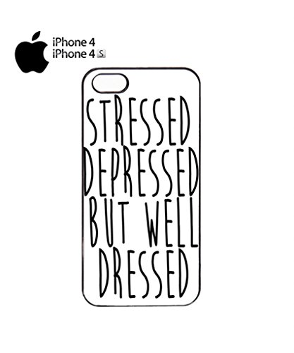 Stressed Depressed But Well Dressed Cell Phone Case Cover iPhone 5c Black Schwarz