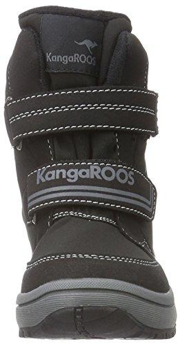 KangaROOS Kamlo, Bottines à doublure froide mixte enfant Noir - Noir/gris foncé (522)