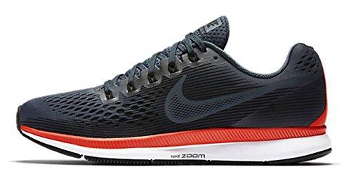 Nike Air Zoom Pegasus 34, Scarpe Running Uomo, Nero (Black/White/Dark Grey/Anthracite), 45 EU