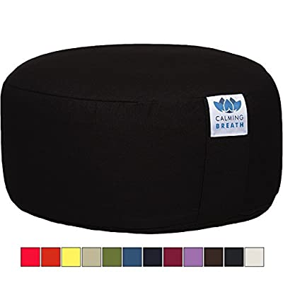 CalmingBreath Yoga Meditation Cushion, Cotton - Buckwheat Hulls produced by CalmingBreath - quick delivery from UK.