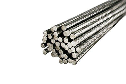 10 Stück FUCHS Bewehrungsstahl 1,5 m Länge, 6 mm Durchmesser - Inoxripp® 4486, rostfrei, Edelstahl V4A - verschiedene Längen