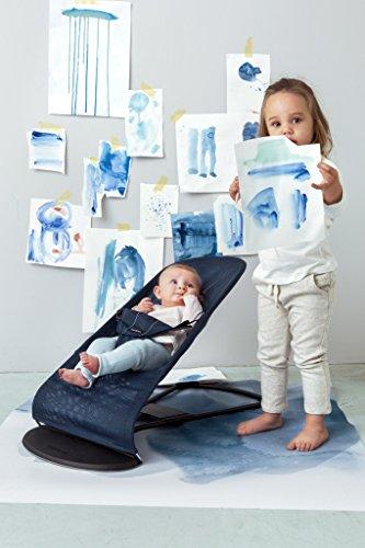 BabyBjörn 005008 Babywippe Balance Soft, Mesh, dunkelblau