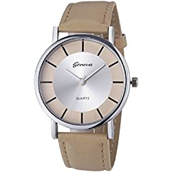 Mallon® Women Retro Dial Analog Quartz Wrist Watch Khaki