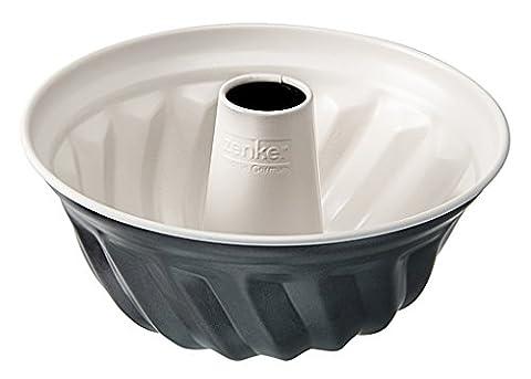 Zenker 7815 Noir Gugelhupf, Stahl, anthrazit / creme, 22 x 22 x 11,5 cm (Backblech Vanillekipferl)