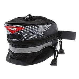 OJK Bike Saddle Bag ( Noir , Nylon/Tissu ) Séchage rapide/Résistance aux chocs/Résistant aux Chocs