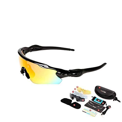 Tomobile Optics Sportbrille für Herren und Damen Sportsonnenbrille mit Verspiegelten Gläsern Sonnenbrille Zum Radfahren Laufen Triathlon Beachvolleyball-Spielen und Wandern