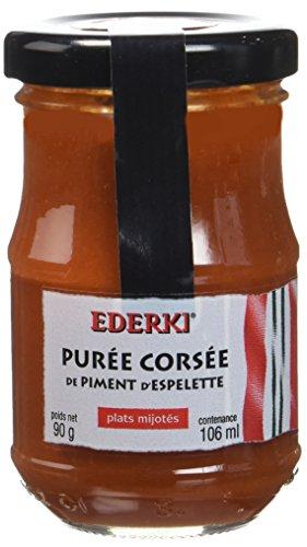 Ederki Purée Corsée de Piment d'Espelette 90 g - Lot de 2