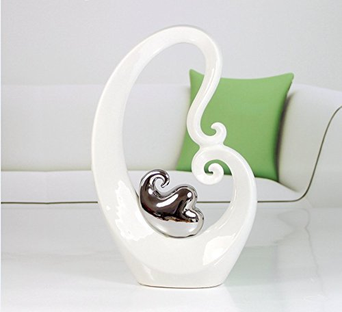 Lx.AZ.Kx Cerámica Continental sencillas y elegantes jarrones chapados en plata artesanía Salón...