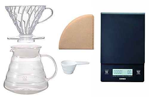 Hario V60 Scale And Brewing Set - For Careful Measuring And Coffee Brewing