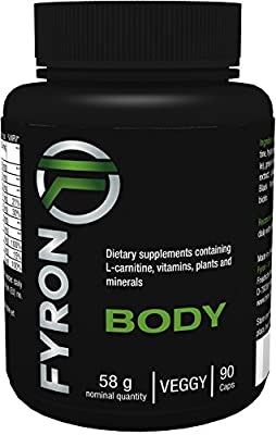 Fyron Body - Green Coffee Extract, L-carnitine, Guarana Extract + Green Tea Extract + Cayenne Pepper + Black Pepper + Vitamins - 90 capsules
