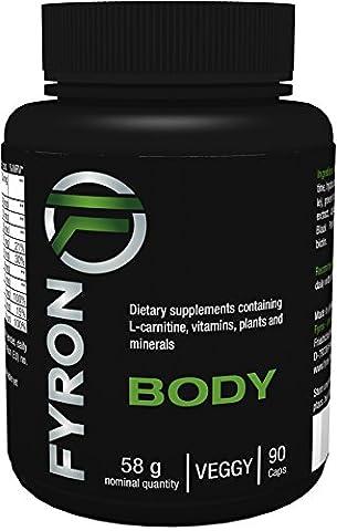 FYRON Body - 90 capsules - 100% NATUREL - extrait de Guaranà - Café vert - Vitamines B6 & B12 - SANS ADDITIFS - POUR FEMMES ET HOMMES
