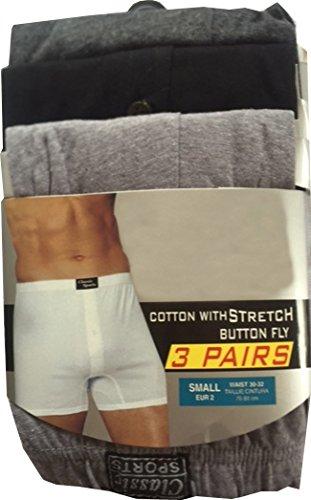 12 Pairs Mens Designer Plain Classic Sport Cotton Boxer Shorts Underwear Briefs by Highliving ®