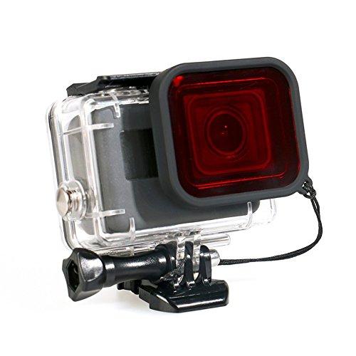 Preisvergleich Produktbild KJH21 Gehäuse Fall für GoPro Hero 5 Session Wasserdicht Tauchen Schutzhülle Gehäuse Shell mit Halterung Zubehör für Go Pro Hero5 Session & Hero Session