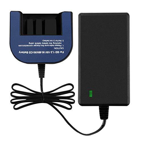 Exmate Ladegerät für Black & Decker Ni-MH Ni-Cd Akkus, 1.2V-18V Multivolt Ladegerät, Fit für Black & Decker Slide Style Akkus 7.2V 9.6V 12V 14.4V 18V (Nicht für Li-Ion Akkus) Hpb18 Ope Power Tools