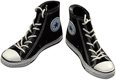 1/6 1 Par Zapatos Zapatillas de Deporte Negro para Figuras Muñecas de 12 Pulgadas