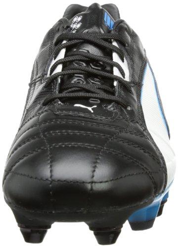 Puma King Mixed SG Herren Fußballschuhe Schwarz (black-white-fluo blue 06)