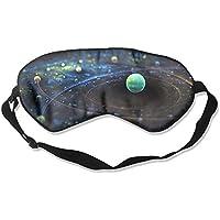Eye Mask Adjustable-Strap Eyeshade Sleeping Mask Skin-Friendly Outer Space Pattern Blindfold Night Sleep Travel preisvergleich bei billige-tabletten.eu