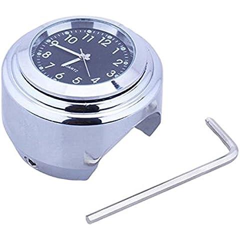 Fuente de prestaciones de la moto reloj de mesa universal de galjanoplastia de Harley coches GM aluminio aleación manos reloj color negro