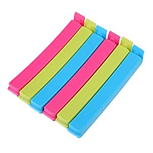 And-also 18Pc 3 Different Size Plastic Food Snack Bag Pouch Clip Sealer For Keeping Food Fresh For Home Kitchen Camping (Multi Color) by And-Also