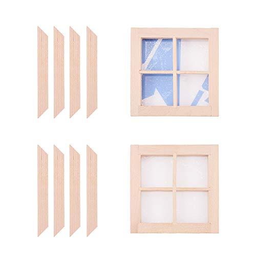WANDIC Dollhouse - Marco Madera 4 Paneles Ventana