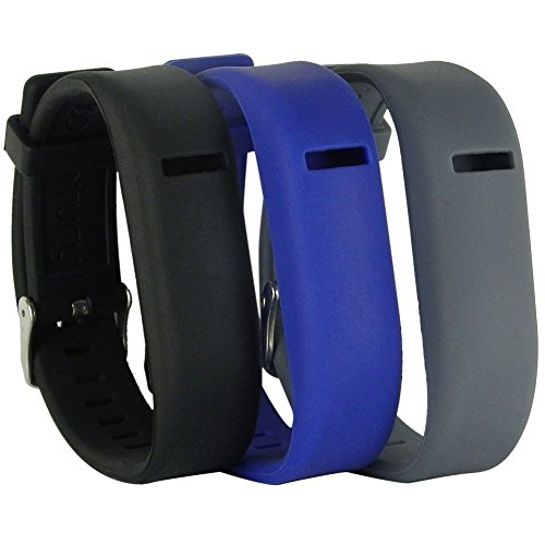 HopCentury New Style Ersatz Fitbit Flex Handgelenk Band Armband Riemen verstellbarem Armband mit Schnalle und sichere Sleeve für Fit Bit Flex Tracker 3 Pack