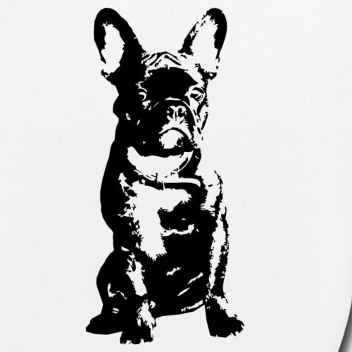 Spreadshirt French Bulldog Fanzösische Bulldogge Frenchie Bio-Stoffbeutel Weiß
