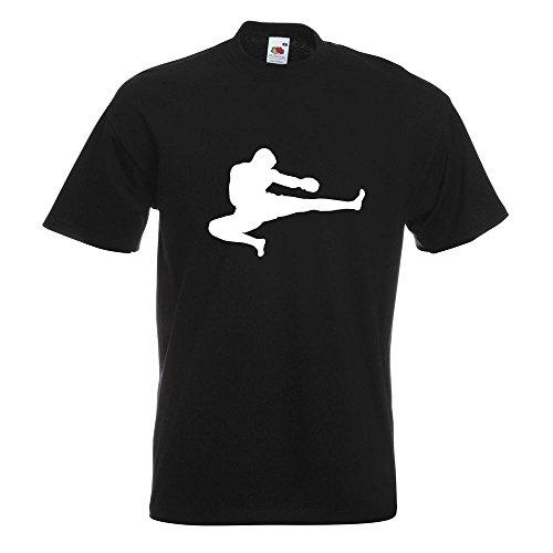 KIWISTAR - Kampfsport Karate Judo Kung T-Shirt in 15 verschiedenen Farben - Herren Funshirt bedruckt Design Sprüche Spruch Motive Oberteil Baumwolle Print Größe S M L XL XXL Schwarz