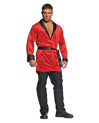 Bunny Rot Kostüme Playboy (Rotes sexy Playboy Jacket für Fasching & Halloween One)