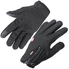 Handcuffs Fashion Warm Cycling Gloves (Standard, Black)