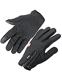 Handcuffs Fashion Warm Cycling Gloves (Large, Black)