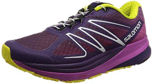 Salomon Damen L37908900 Traillaufschuhe, Violett Cosmic Purple/Azalee Pink/Corona Ye, 38 2/3 EU