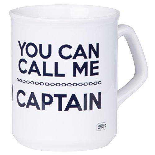 Kaffeetasse für Kapitäne 'YOU CAN CALL ME CAPTAIN' mit maritimen Anker Design für Segler und Boot...