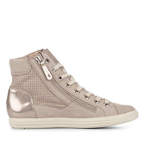 Paul Green 4247-162 Damen Sneaker Aus Nubukleder Lederfutter und -Innensohle Sabbia/Champa