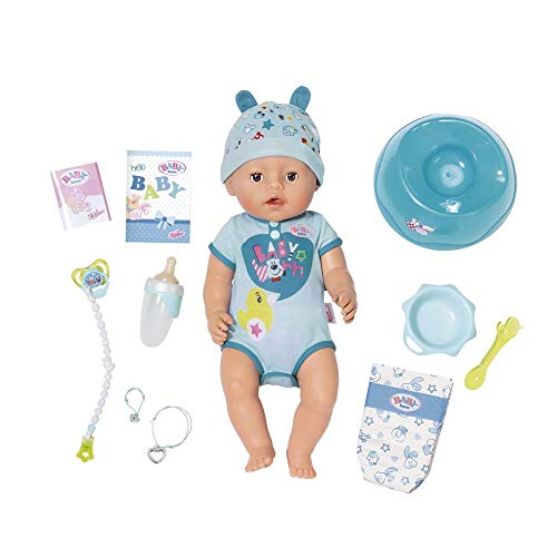 Zapf Creation 819203 - Baby Born Interactive Boy Puppe - Jungen Badezimmer-sets Für Kid