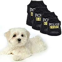 Smoro Perro Mascota Cachorro Chaleco Camiseta Traje de policía Cosplay Traje de Perro Negro