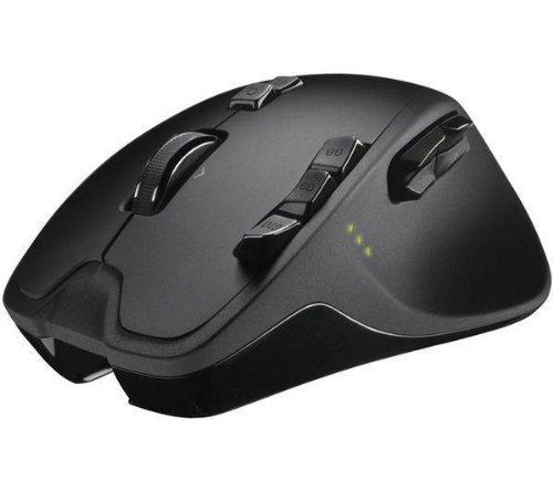 Maus Wireless Gaming Mouse G700 - schwarz + Mauspad CMP-MAT3 - schwarz + Universal-Ladegerät für Einweg-Batterien + Ökologischer Druckluftspray - 350 ml