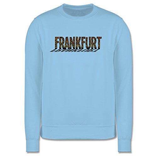 Städte - Frankfurt - Herren Premium Pullover Hellblau