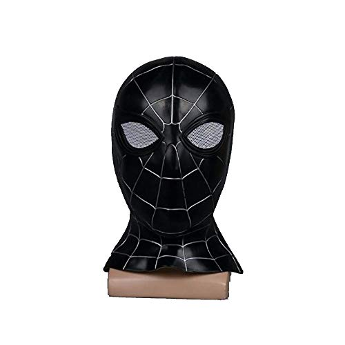 ASPIDER Avengers 3 Cosplay Spiderman Mask Halloween Requisiten Cosplay Kostüm (Farbe : SCHWARZ, größe : 53cm-60cm)